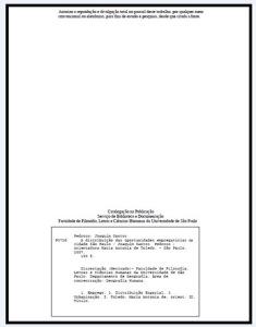 Exemplo de ficha catalográfica